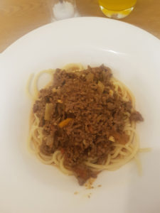 Homemade Spaghetti Bolognese.