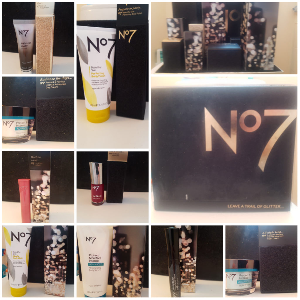 No7 leave a trail of glitter Christmas box review!
