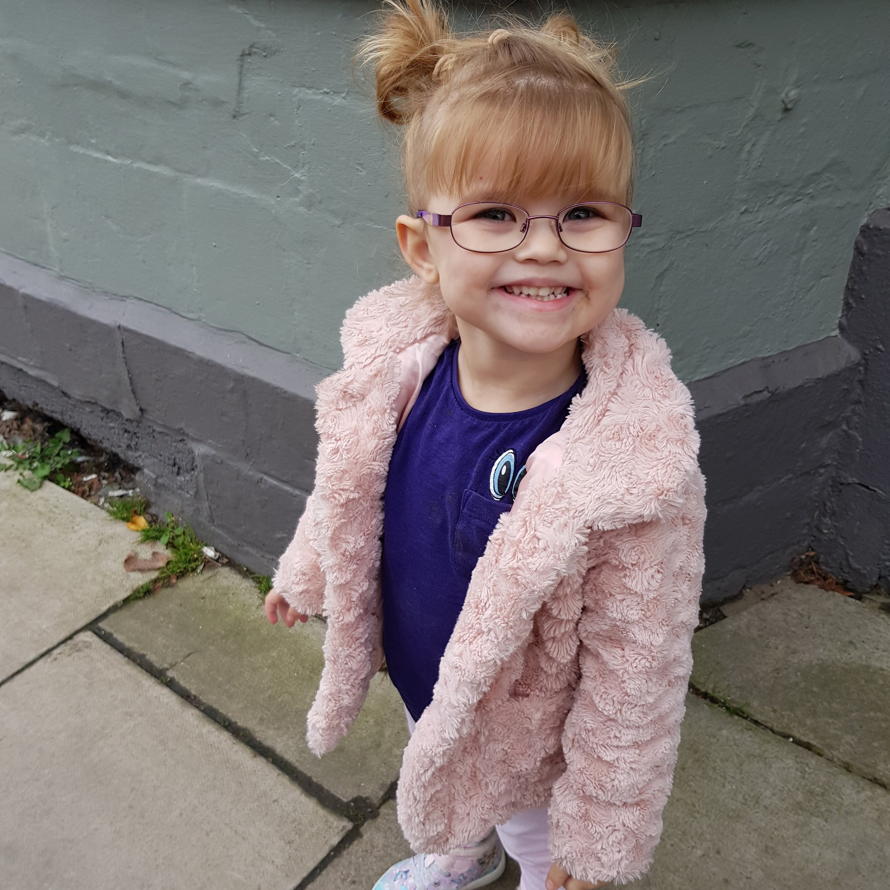 Shaniah with her new glasses