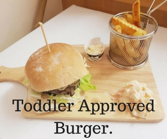 Homemade toddler approved Burger!